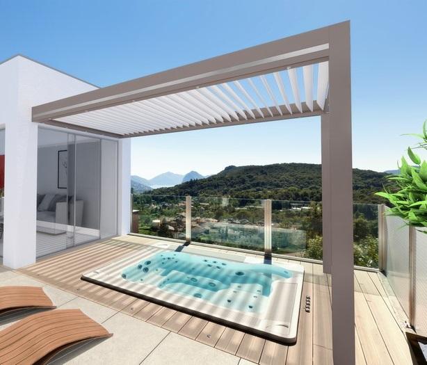 Projet architecture extérieure - Pergola et piscine