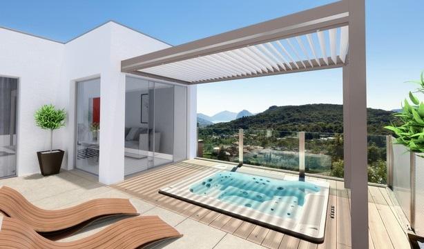 Des pergolas en aluminium modernes et épurées pour votre terrasse