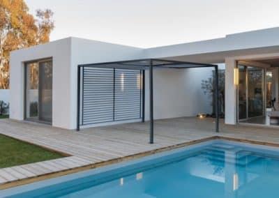 Pergola terrasse piscine