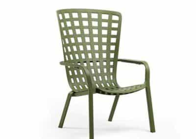 Chaise verte de la marque Nardi