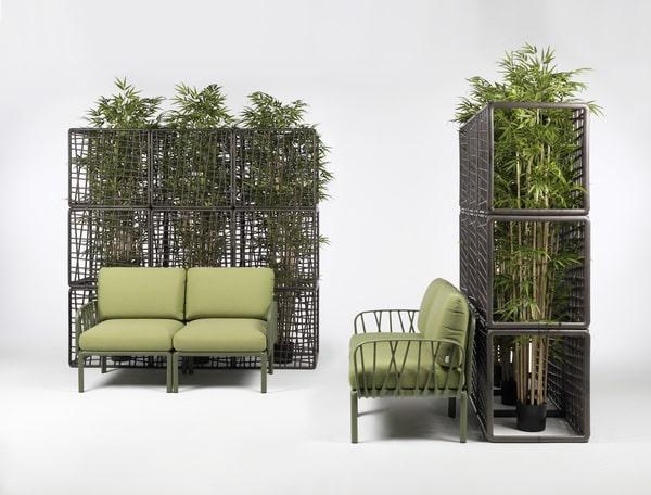 Fauteuils verts de la marque Nardi