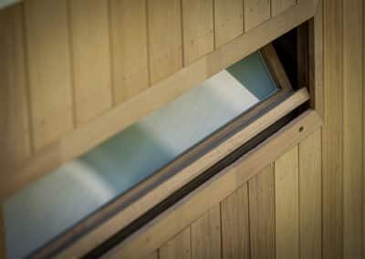 Aménagement extérieur - Aération d'un sauna
