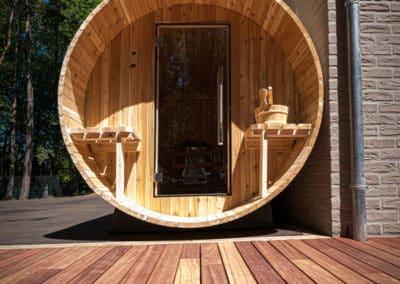 Installation d'un sauna - Aménagement extérieur