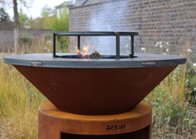 Plancha en acier Corten - grillades
