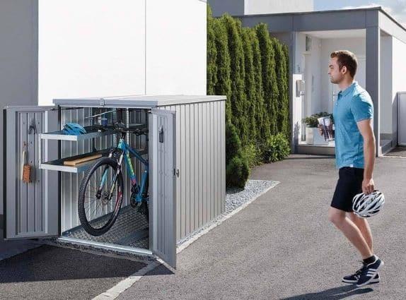 Range-vélos de la marque Biohort à retrouver chez GardenSKoncept