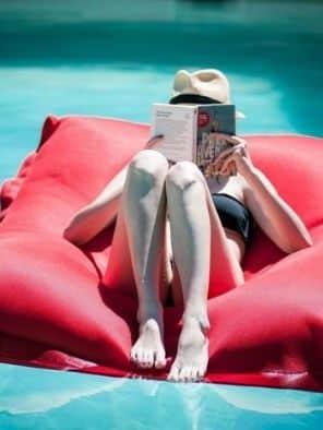 Pouf piscine rouge - Shelto