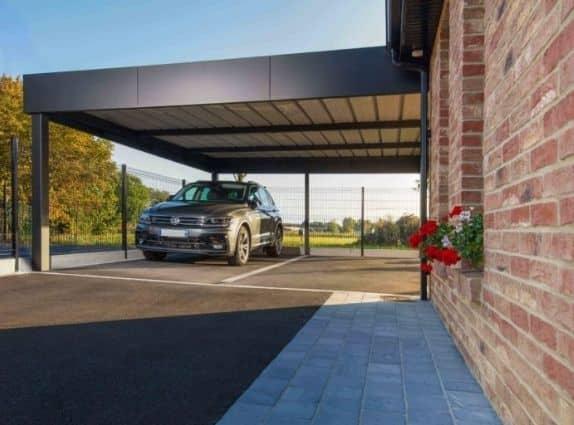 Carport en alu - Eurocarport à retrouver chez GardenSKoncept au Luxembourg