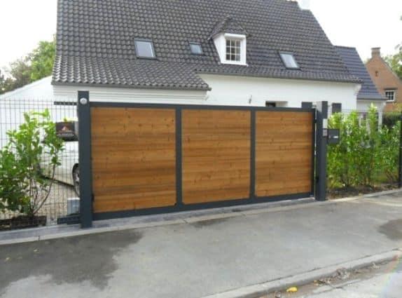 Portail en bois et aluminium - Europortail