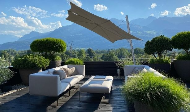 Parasol design et moderne de la marque Umbrosa
