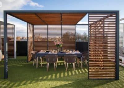 Aménagement extérieur - Pergola moderne (GardenSKoncept au Luxembourg)