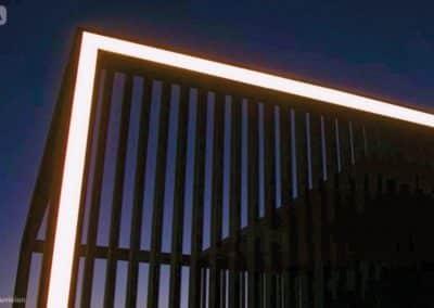 Lumières LED d'une pergola Aluvision
