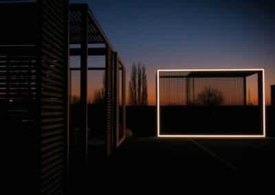 Pergola Aluvision de nuit - Illumination